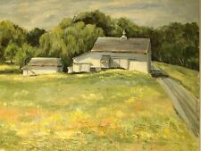 Landscape Oil Painting On Canvas by Artist (Kathryn Oxford Lechner 1912-1994)