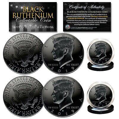 Denver MINT Coin w// 2-SIDED 24K Gold Black RUTHENIUM 2016 JFK Half Dollar U.S