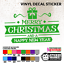 6 Size /& 16 Colour Choices. Merry Christmas /& Happy New Year VInyl Sticker