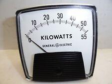 Vintage General Electric Kilowatt Meter Measures 0 55 Kw Gauge Nos
