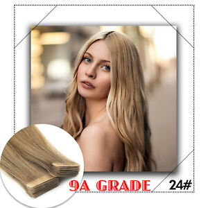 9A-16-034-Tape-In-100-Remy-Human-Hair-Extensions-Seamless-PU-Skin-Hair-Weft-20PCS