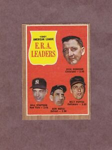 1962-Topps-55-1961-A-L-ERA-Leaders-Don-Mossi-Milt-Pappas-Nice-Card