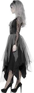 Womens-Zombie-Corpse-Bride-Costume-Ladies-Ghost-Halloween-Fancy-Dress-Plus-Size