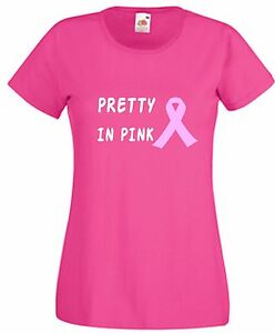Pretty In Pink T Shirt with Breast Cancer Ribbon Wear It Pink ...