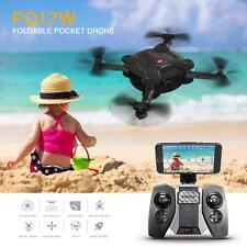 FQ777 FQ17W 6-Axis Gyro Mini Wifi FPV Foldable G-sensor Pocket Drone Black G8I6