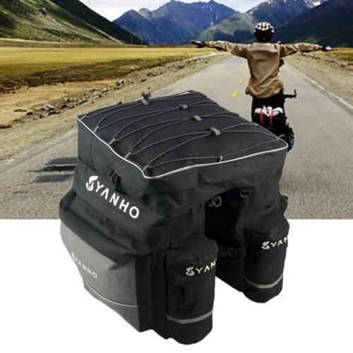 Bicycle Rear Rack Bag Pannier Trunk Case Storage MTB Bike Pack Waterproof Wu