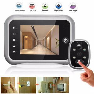 3.5\'\' LCD Digital Peephole Viewer Door Eye Doorbell Video IR Camera ...