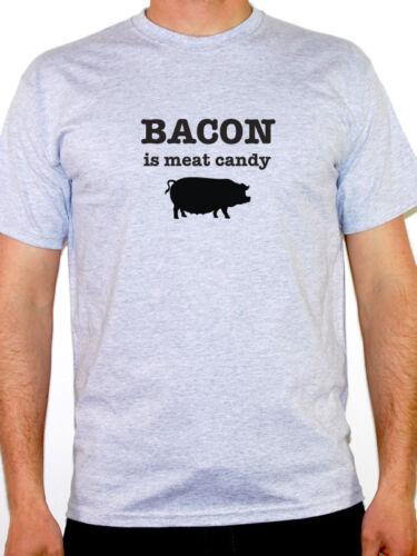 Humoristique thème Men/'s T-Shirt Bacon est viande Candy-viande amant nouveauté