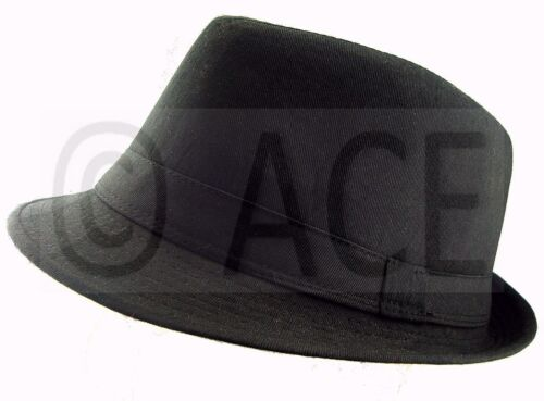 79e7b5a6b Unisex Mens Womens Fedora Hats Dance Costume Gangster Trilby Hat in ...