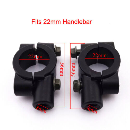 Rearview Mirror 8mm Bracket Holder Clamp For ATV Quad Pit Dirt Motor Bike Moped