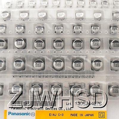 (1uF-220uF) 130pcs 13Value SMD Aluminum Electrolytic Capacitor Assorted Kit Set