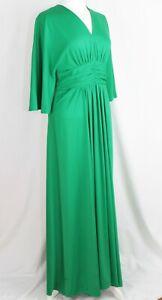 370e1255cc8b Image is loading Vintage-1970s-MISS-JEANNIE-Maxi-DRESS-Green-UK-
