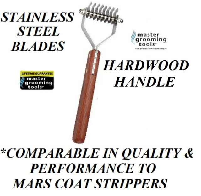Master Grooming Tools 8 Blade Stripping STRIPPER Hair Mat Breaker Comb RAKE Coat