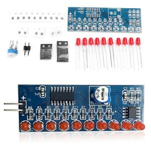 Electronic Components & Supplies Ne555+cd4017 Running Led Flow Led Light Electronic Production Suite Diy Kit Cd4017 Running Water Light Diy Kit Ne555 Active Components