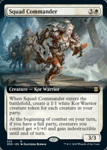 Extended Art Squad Commander x4x Zendikar Rising ZNR NM MtG