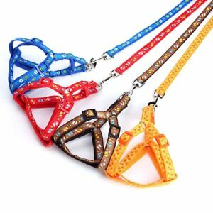 Small-Dog-Pet-Puppy-Cat-Adjustable-Nylon-Harness-with-Lead-leash-Traction-rope