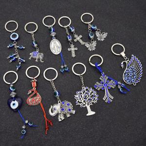 Womens Turkish Blue Evil Eye Pendant Key Chain Bag Charm Lucky ... 8f4bf76466