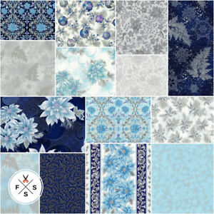 Holiday-Flourish-12-Peacock-5-034-Charm-Pack-Quilt-Squares-CHS-784-42-Kaufman-SQ53