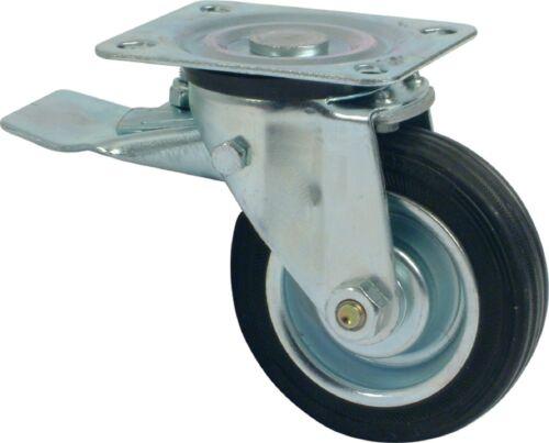 Swivel Castor Ø 125mm Wheel Plate Fixing Load Capacity 100 kg