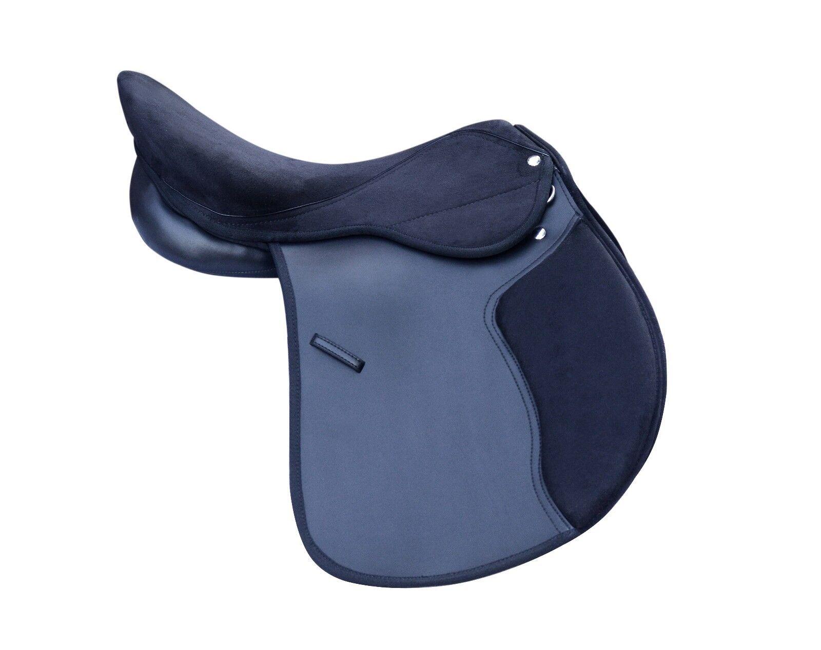 Cuero Sintético silla caballo GP Modificable garganta Suede Negro Venta 4 Tamaños