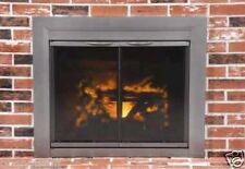 Pleasant Hearth Glass Fireplace Door Craton Gun Metal Medium CR-3401 Mesh Screen