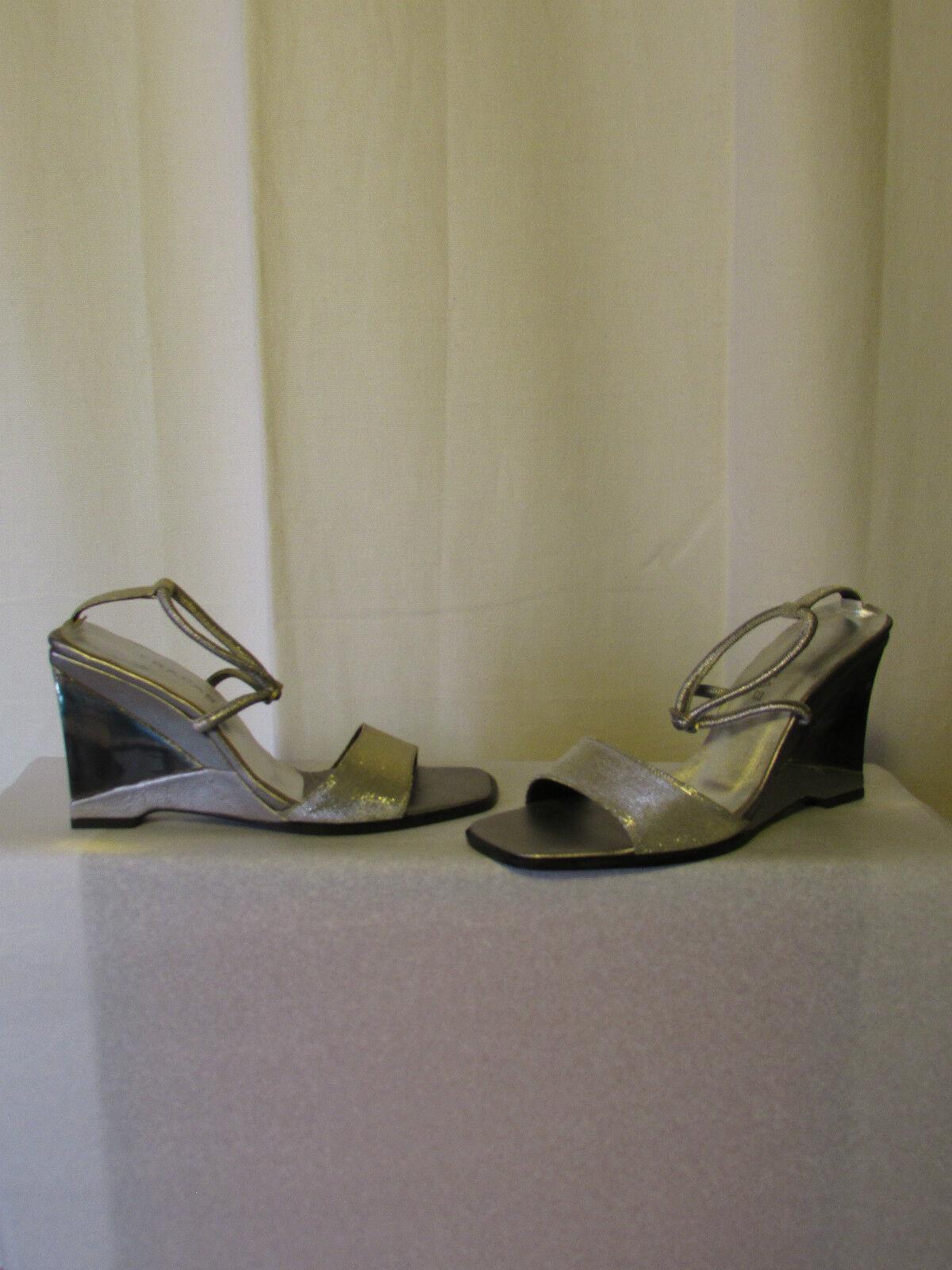 Keil Sandalen Sandalen Sandalen Absturz Silber 39 c31741