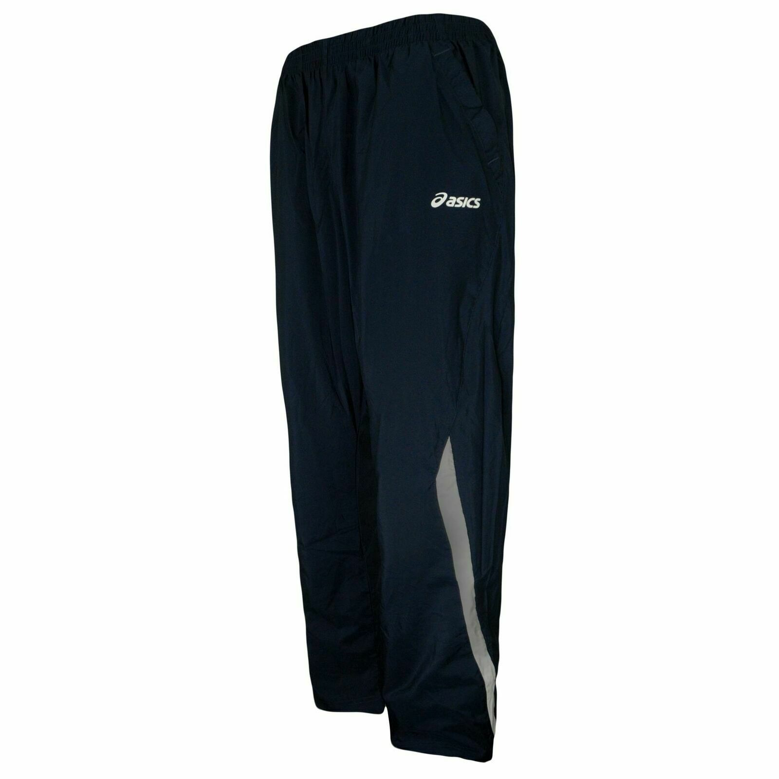 Asics Mens Woven Track Pants Casual Lounge Joggers Navy 109681 0891