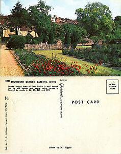 1960-039-s-SOUTHOVER-GRANGE-GARDENS-LEWES-SUSSEX-UNUSED-COLOUR-POSTCARD
