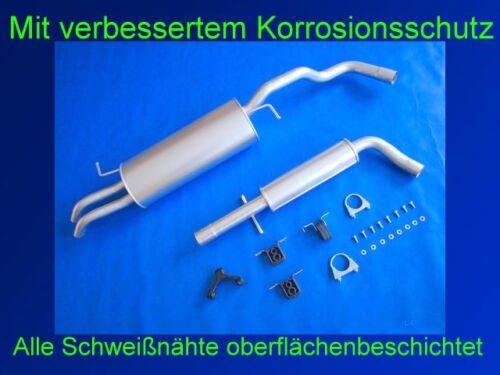Kit Abgasanlage Auspuff Endtopf VW Bora 2.0 Stufenheck /& Kombi Typ 1J2//6