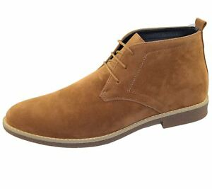 Mens-Suede-Desert-Boots-Camel-Lace-Up-Casual-Ankle-Classic-Shoes-Size-EU-41