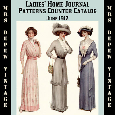 MODE PRATIQUE July 6,1912 sewing pattern RARE DRESS BY DRECOLL