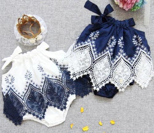 Fashion Infant Newborn Baby Girl Romper Jumpsuit Dress Clothes Floral Playsuit