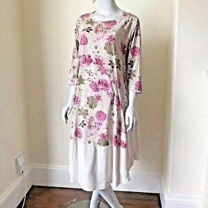 c3fc0146860d3 Image is loading LAGENLOOK-LMT-Gorgeous-Blossom-Cotton-Summer-Dress-UK-