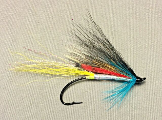 5 and 7 Sizes 3 Salmon and Steelhead Flies Green Slime Fly