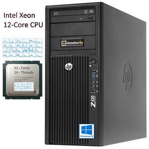 12-Core-HP-Z420-Workstation-PC-Xeon-E5-2651v2-RAM-32GB-SSD-240GB-Nvidia-Grafik
