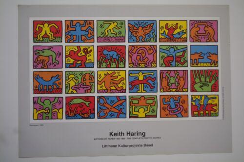 Kunstdruck Poster Keith Haring Retroscept 1989  84x60 cm NEU