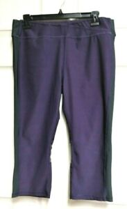 Jillian-Michaels-Impact-Women-039-s-Athletic-Capris-Pants-Purple-amp-Black-Size-XL