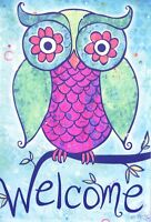 Mini Garden Flag rainbow Owl