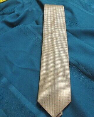 Romario Manzini Mens Neck Tie Blue Silver Paisley Dress Necktie Fashion