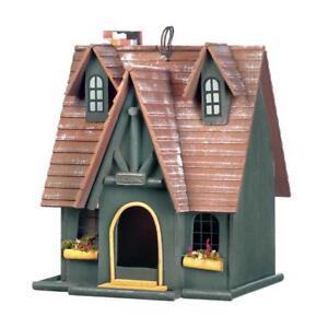 HOME-GARDEN-DECOR-STORYBOOK-COTTAGE-BIRD-HOUSE-BIRDHOUSE-WOOD