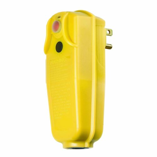 Yellow Tower Manufacturing 30434010 Auto-Reset 15 AMP Right Angle GFCI Plug