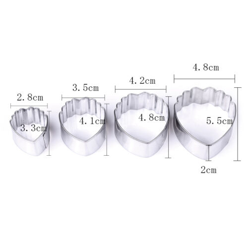 Stainless Steel Flower Leaf Biscuit Cookie Cutter Fondant DIY Cake Decor Mould