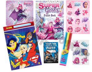 Pre-Filled-Girls-DC-Comics-Superhero-Party-Bag-Bat-Super-Girl-Wonder-Woman
