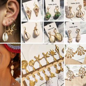 Women-Girls-Fashion-Jewelry-Shell-Conch-Cowrie-Dangle-Drop-Hoop-Earrings-Gift