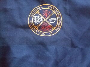 """70 S 80 S Rétro Federation Of Postmaters Bleu écharpe Cravate 27""""-afficher Le Titre D'origine Prix Le Moins Cher De Notre Site"""