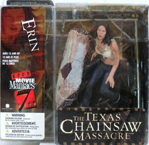 MOVIE MANIACS - THE TEXAS CHAINSAW MASSACRE-ERIN - film figures-anno 2004-cm. 14