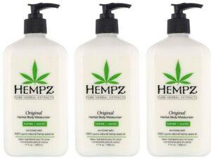 LOT-of-3-Hempz-Organic-Hemp-Original-Herbal-Body-Moisturizer-Lotion-17-oz
