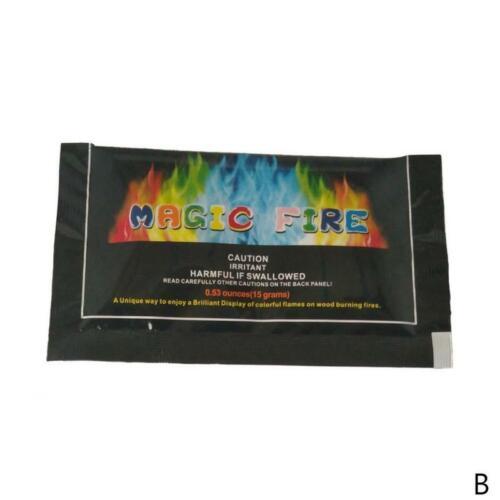 10-25g mystischer Feuer Pulver Strand Feuer Zaubertrick-bunte Flammen Licht Show Zauberartikel & -tricks