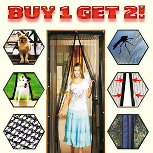 2x-Mosquito-Door-Net-Mesh-Screen-Bug-Pet-Patio-Hands-Free-Magnetic-Magic-Closer