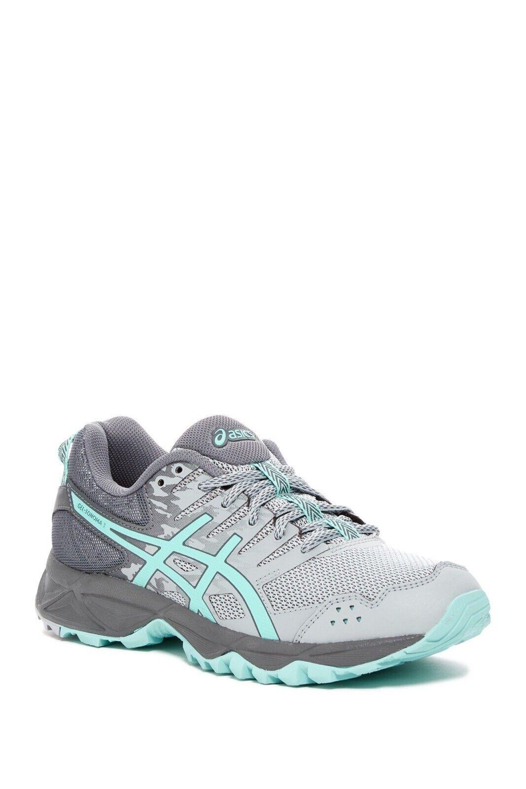 80 NWT ASICS 65533;C GEL -Sonoma 3  donna Hiking Trail scarpe da ginnastica Midgrigio -aqua Sz 7  negozio d'offerta